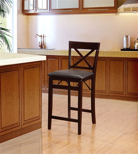 Folding Counter Height Bar Stools by Triena X Back 24 H Folding Counter Height Bar Stool