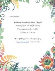 farewell invitation retirement farewell invitation