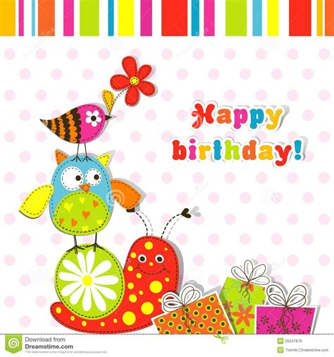 birthday greeting card psd templates template greeting card stock vector illustration of
