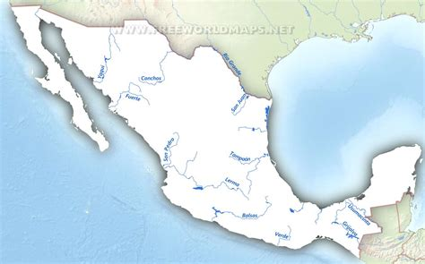 map of rivers in mexico rivers in mexico map arabcooking me