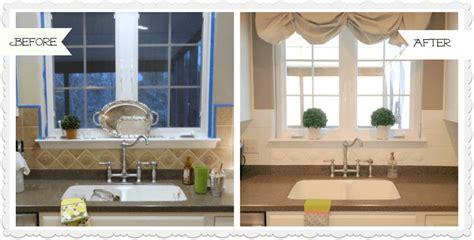 painting kitchen tile backsplash painted ceramic tile backsplash in my kitchen a year