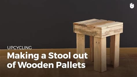 diy pallet projects wooden stool upcycling youtube