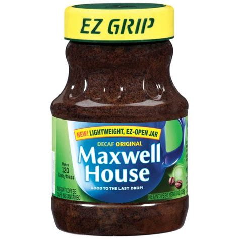 maxwell house instant coffee maxwell house instant original decaffeinated coffee 8 oz walmart com