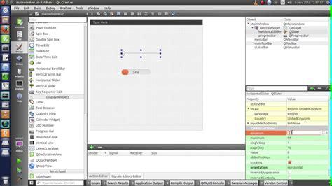 Tutorial Qt | tutorial qt designer 1 horizontal slider and progress bar