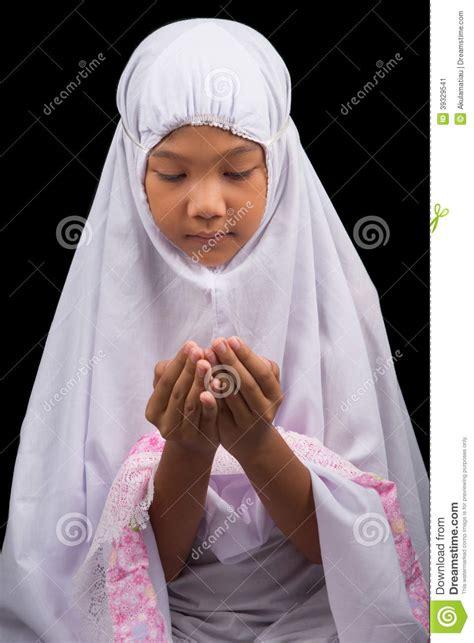young muslim girl   prayer ii stock photo image