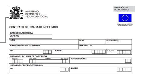contrato general de empleo descargue plantillas de ejemplo de contrato indefinido contrato de trabajo