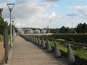 thames barrier nearest station walkway to the thames barrier 169 stephen craven cc by sa 2