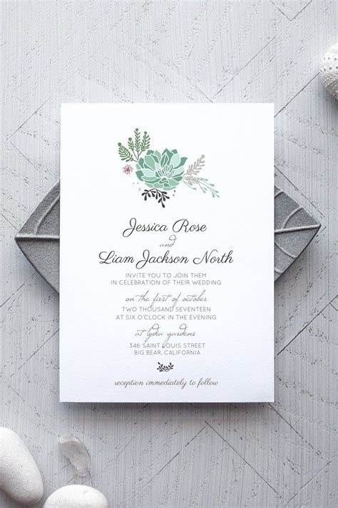 rustic card photography templates best 25 succulent wedding invitations ideas on