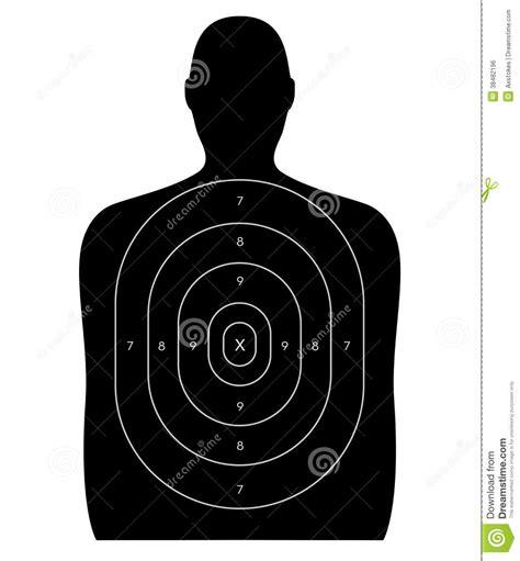 printable headshot targets shooting range human target stock illustration
