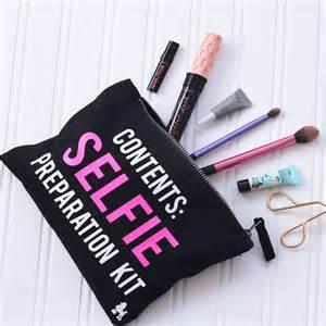 selfie preparation kit make up bag black makeup bag beauty