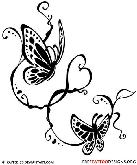 butterfly with heart tattoo designs 60 butterfly tattoos feminine and tribal butterfly