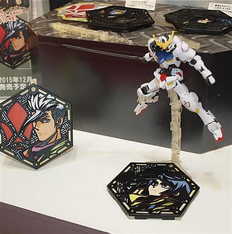 Bandai Character Stand Plate Mikazuki Base 2 gundam iron blooded orphans new base character stand plate on display all japan