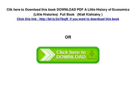 Download Pdf A Little History Of Economics Little