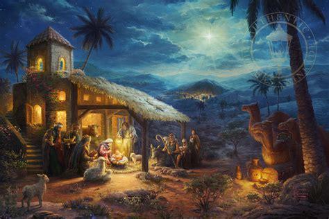 nativity the limited edition art the thomas kinkade
