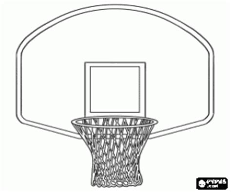basketball backboard coloring page coloriage basket ball 224 imprimer