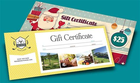 create designer gift certificates with printable templates