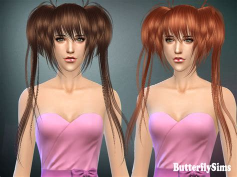 sims 4 anime hair cc sims 4 hairs butterflysims anime hairstyle 022