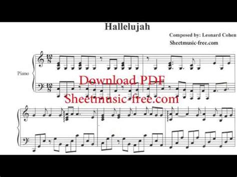 keyboard tutorial hallelujah leonard cohen hallelujah piano solo sheet music leonard