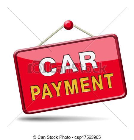 Stock Illustration of car payment or loan from bank