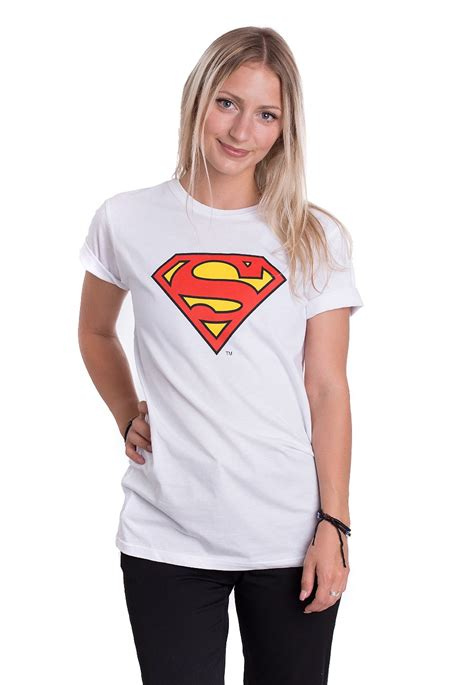 Tshirt Supermen White superman logo white t shirt liveyourmusic it