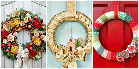 55 diy christmas wreaths how to make a holiday wreath craft homemade christmas decoration ideas trendy mods com