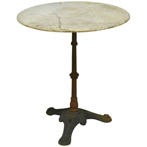 Marble Bistro Table Parisian Marble Top Bistro Table At 1stdibs