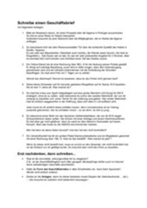 Beschwerdebrief Unterricht 4teachers Schreibe Einen Gesch 228 Ftsbrief