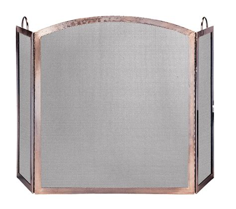 Copper Fireplace Screen Uniflame 3 Panel Antique Copper Arched Fireplace Screen