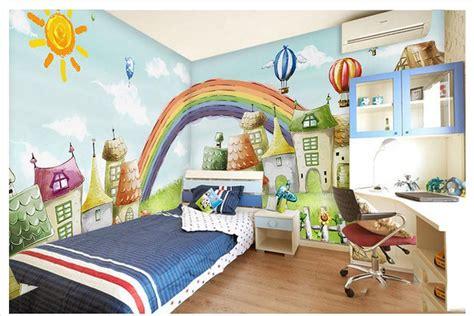 rainbow wallpaper for room custom mural 3d non woven wallpaper children room bedroom background wall rainbow bridge