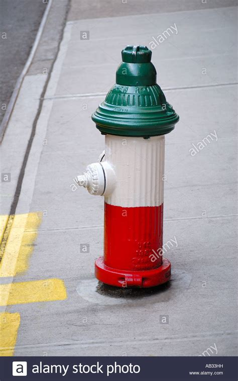 hydrant colors hydrant painted in the colors of the italian flag in