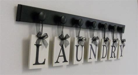 Laundry Letters by Laundry Room Sign Wall Decor Personalized Hanging Letters Includes Wo