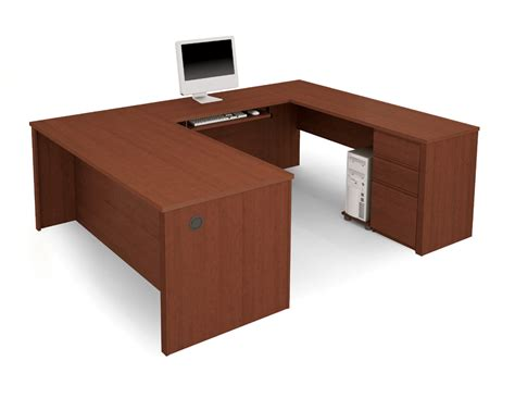 U Shaped Computer Desks Bestar Prestige U Shaped Desk