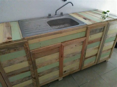 kitchen sink and counter pallet wood kitchen counter with sink 101 pallets