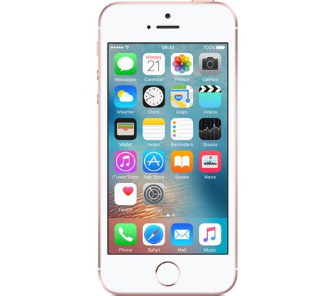 currys mobile phones buy apple iphone se 16 gb gold free delivery