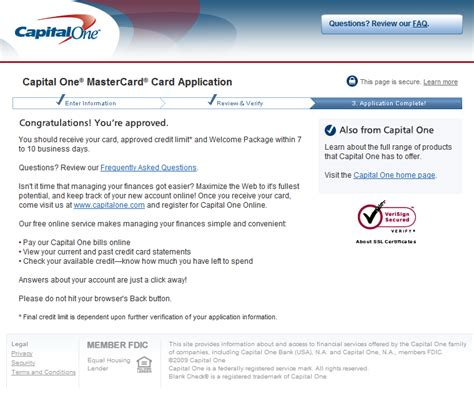 Capital One Credit Letter Application Capitalone Capitalone Credit Card Offer 1 Click Billpay