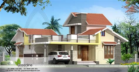 simple house elevation with floor plan studio design