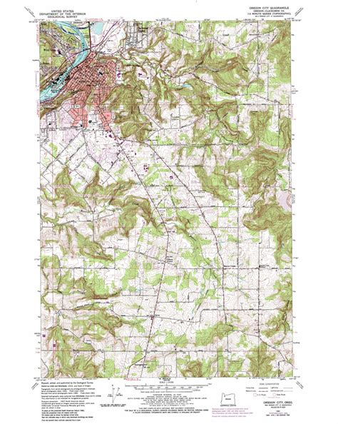 topographical map oregon oregon city topographic map or usgs topo 45122c5