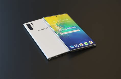 new samsung galaxy note 10 5g renders point to a stunning flagship smartphone notebookcheck