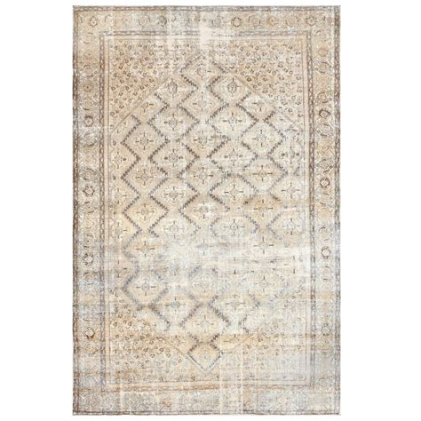 shabby chic antique persian malayer carpet at 1stdibs