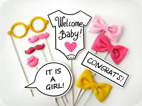 free printable baby shower photo booth props new