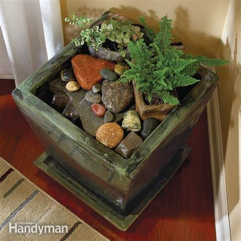 build  indoor water fountain  family handyman