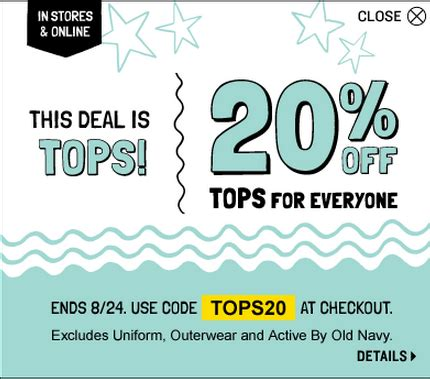 old navy coupons in store canada old navy canada coupons save 20 on tops all jeans on