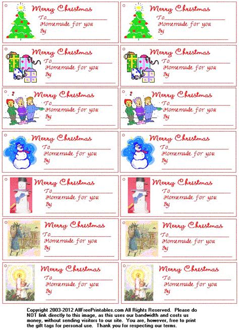printable tags for homemade gifts free printable christmas gift tags for homemade gifts
