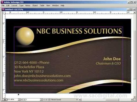 indesign business card template with bleeds youtube