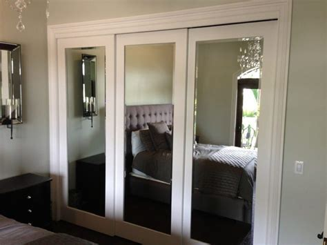 mirror closet doors for bedrooms installing sliding closet doors for design ideas and