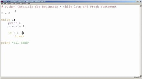 python tutorial if statement python tutorials for beginners while loop and break