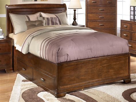 full size bed ashley furniture alea full size sleigh bed with storage by ashley furniture