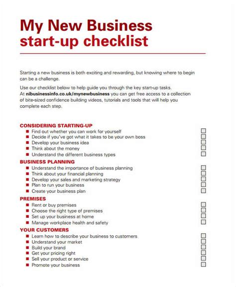 business plan checklist template 32 checklist templates in pdf free premium templates