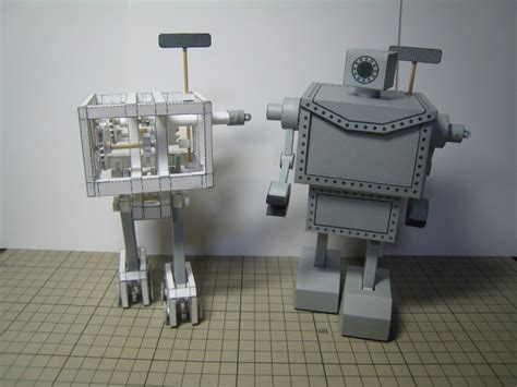 Mechanical Papercraft - mechanical robot made out of paper