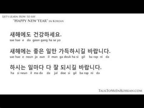 happy  year  korean  talktomeinkoreancom youtube